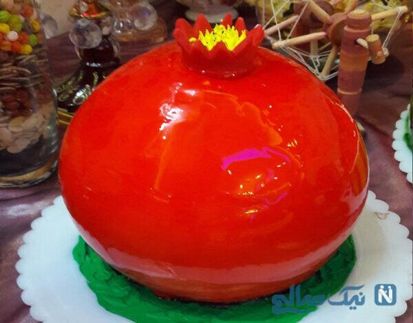کیک انار با ژله