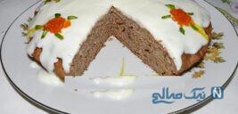 کیک هویج با تزیین زیبا و جالب!