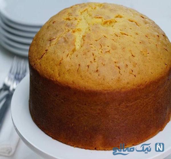 طرز پخت یک کیک ساده خانگی