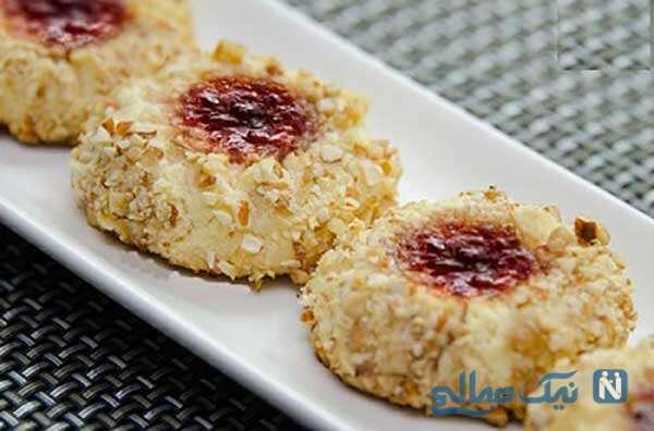 شیرینی مربایی فندق و بادام ، لذیذ و شکیل ویژه عید نوروز!