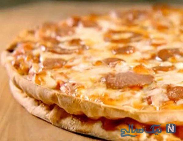 پیتزا دولایه شیک و بسیار لذیذ!+عکس