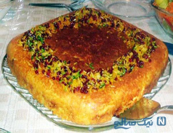 افطاری مجلسی و متفاوت با ته چین لوبیا سبز!+عکس