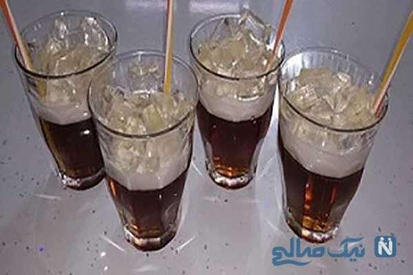 تزیین ژله به شکل لیوان