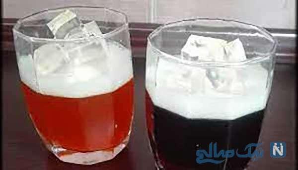 طرز تهیه ژله به شکل لیوان نوشابه پر از یخ!