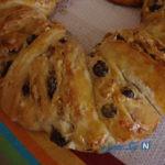 نان حلقه ای بادام و آلبالو مخصوص سفره افطار+عکس