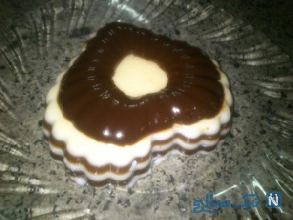 ژله ی شکلاتی راه راه