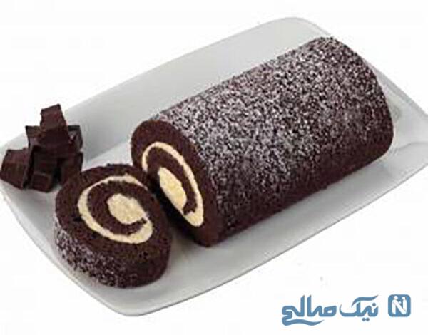 کیک رولت شکلاتی