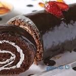 کیک رولت فوق العاده با رویه شکلات!