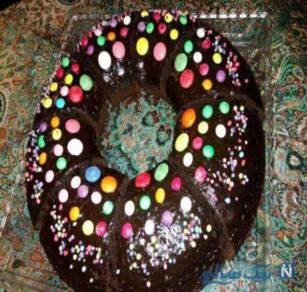 کیک روکش شکلات