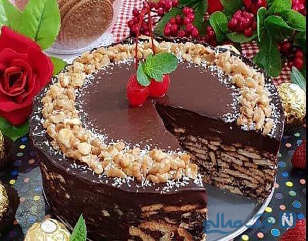 کیک خیس بیسکویتی