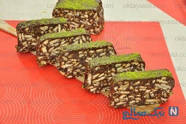 کیک موزاییکی شیک و خوشمزه بدون نیاز به پخت!