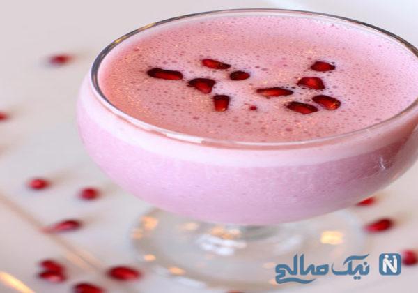 اسموتی وانیلی انار مخصوص نوشیدنی شب یلدا+عکس
