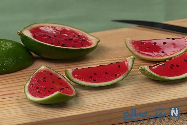 تهیه دسر هندوانه زیبا برای شب یلدا