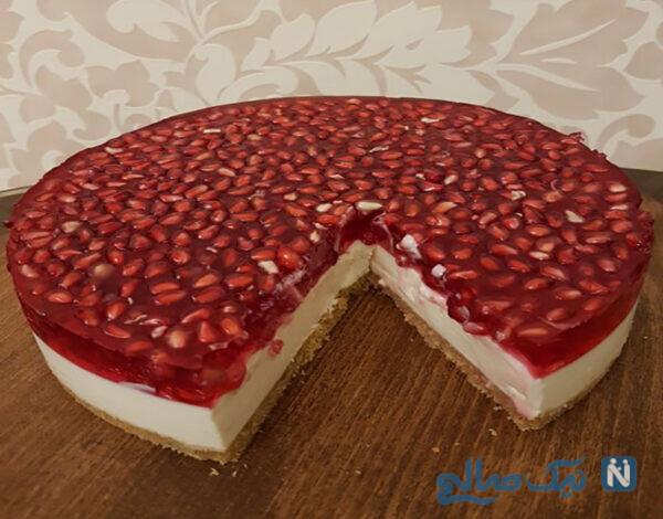 چیز کیک ژله ای انار