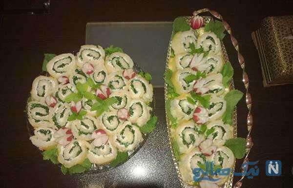 کیک نان و پنیر سبزی