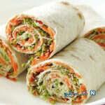 ساندویچ سریع و ساده مارپیچ سبزیجات