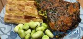 کوکوی اشپل، غذای شب عید گیلانیها