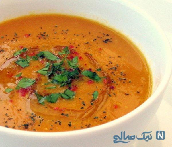 سوپ دال عدس مخصوص افطاری +عکس