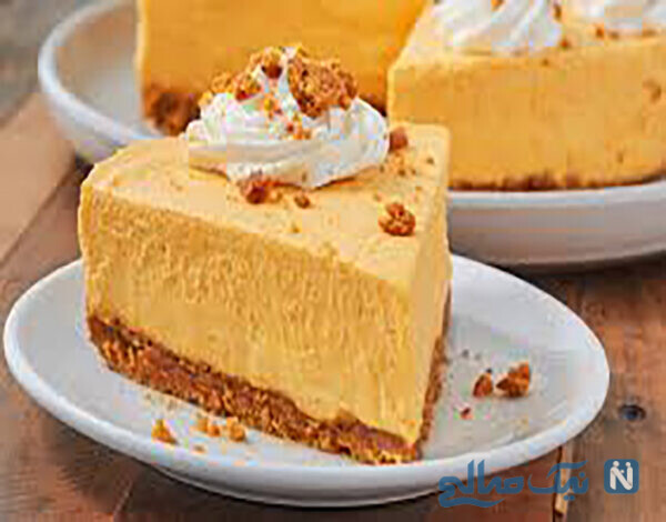 چیز کیک کدو حلوایی بدون فر