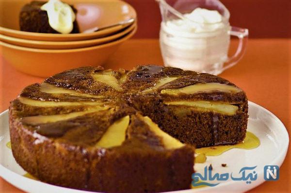 کیک گلابی و زنجبیل