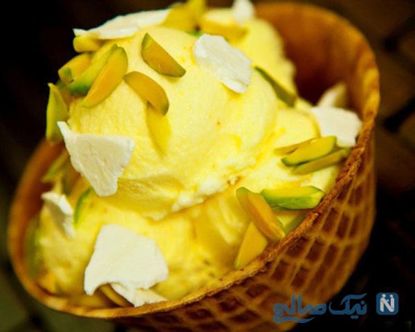 بستنی سنتیِ را در خانه تهیه کنید +عکس