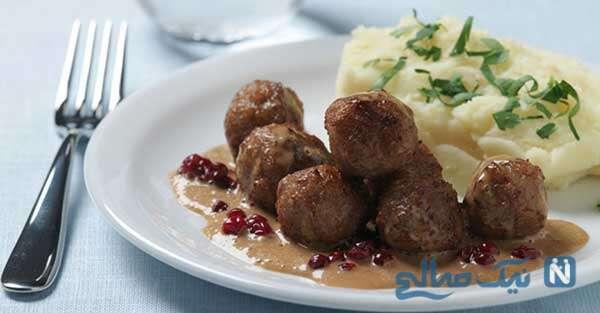 غذای گوشتی بسیار متفاوت و خوشمزه سوئدی