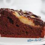 کیک شکلاتی با گلابی دارچینی، یک کیک فوق العاده با طعم تابستانی +عکس