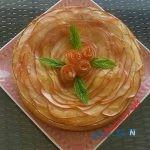 این تارت را با طرح گل رز درست کنید +عکس