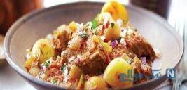 خوراک ایرانی گوشت گوساله همراه با سیب زمینی +عکس