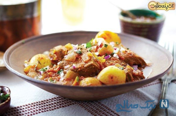غذای ایرانی با گوشت گوساله