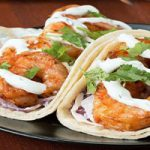 طرز تهیه تاکو میگو با سس گشنیز، غذای محلی مکزیکی +عکس