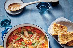 طرز تهیه سوپ غلیظ سبزیجات با پاستاهای کوچک +عکس