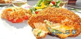 طرز تهیه سینه مرغ شکم پر با فلفل هالوپینو +عکس