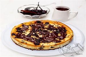 طرز تهیه چیز کیک، با آلبالوی ترش و شکلات شیرین! +عکس