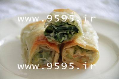 رول اسفناج و تخم مرغ با خمیریوفکا مقوی و خوشمزه! +عکس