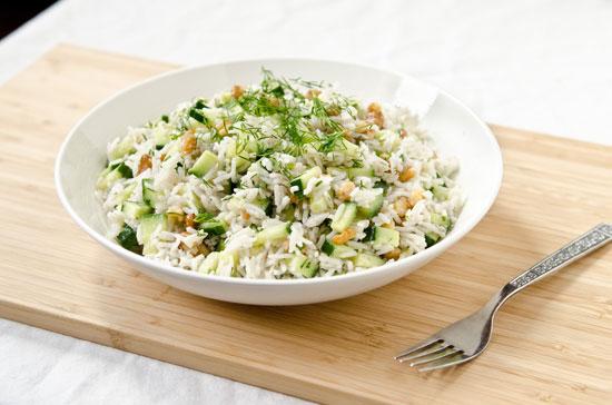 سالاد بسیار خوشمزه برنج! +عکس