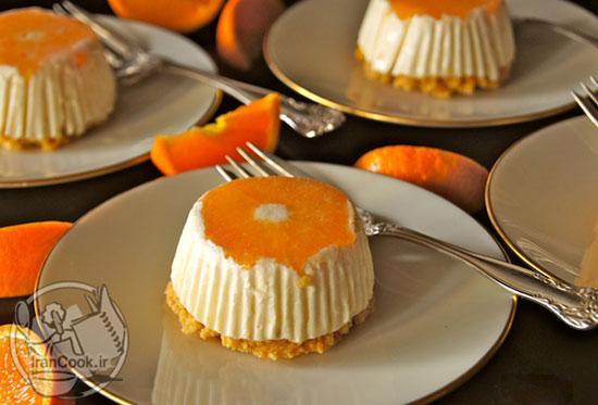 طرز تهیه چیز کیک نارنگی، بدون نیاز به پخت +عکس