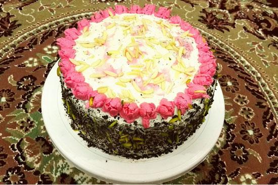 کیک رمانتیک خامه ای برای لحظه های عاشقانه با همسرتان +عکس