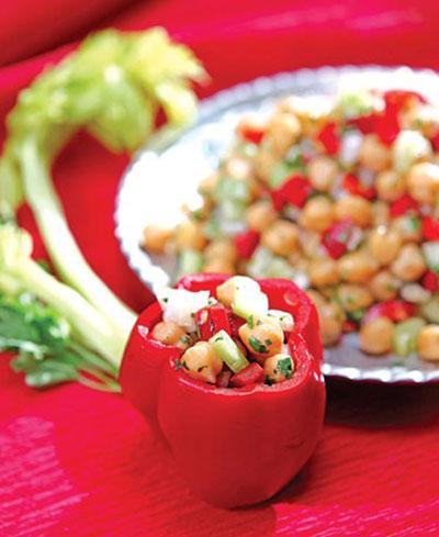 طرز تهیه دلمه خوش آب و رنگ نخود و سبزیجات!+عکس