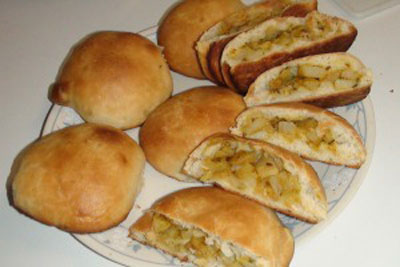طرز تهیه نان شکم پر فوق العاده لذیذ +عکس