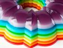 ژله فوق العاده زیبای رنگین کمان