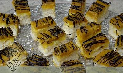اسلایس های کیک حلوا خوشمزه و مقوی برای لحظه های افطار +عکس