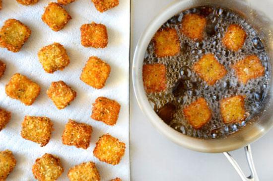 بادمجان سوخاری یک پیش غذای گیاهی +عکس