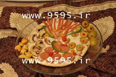 پیتزا تزئینی با خمیر یوفکا متفاوت و خوشمزه! +عکس