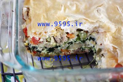 لازانیا گوشت و سبزیجات با خمیر یوفکا , یک شام دلچسب و متفاوت! +عکس