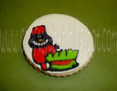 آموزش تصویری تزئین شیرینی به شکل سبزه و حاجی فیروز