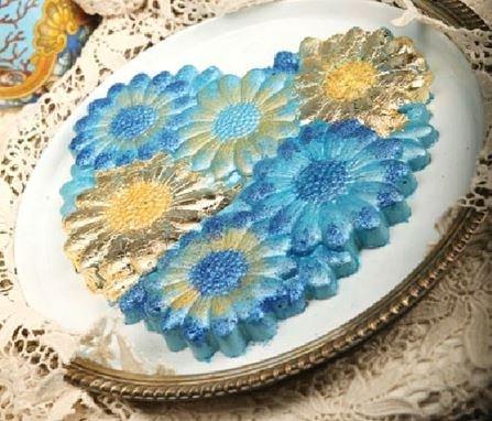 طرز تهیه دسر ژلاتینی آبی رنگ +عکس
