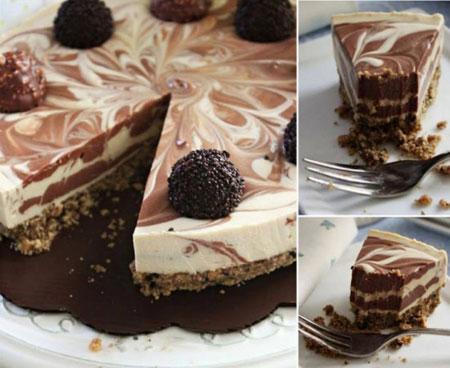 چیزکیک شکلاتی خوشمزه بدون پخت!+عکس