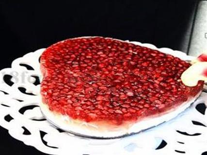 چیز کیک ژله ای انار مخصوص شب یلدا+عکس