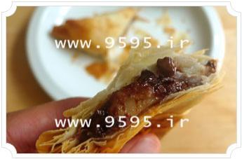 سمبوسه موز با خمیر یوفکا, طعمی جدید و لذیذ! +عکس